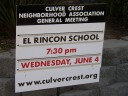 General Meeting sign
