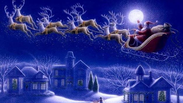 Santa-Claus-sleigh-with-reindeer